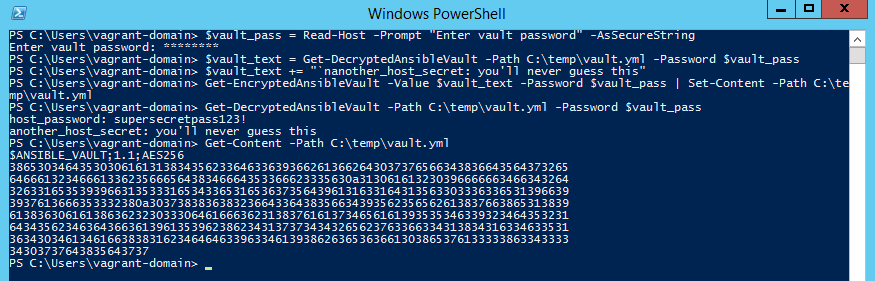 Decrypting the secrets of Ansible Vault in PowerShell – Blogging for